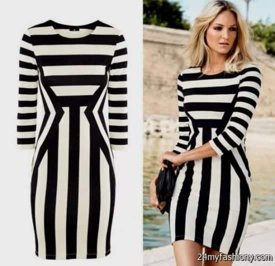 wpid-black-and-white-striped-dress-outfit-2016-2017-0 Latest Summer Fashion Trends To Follow- Top Trends of 2016