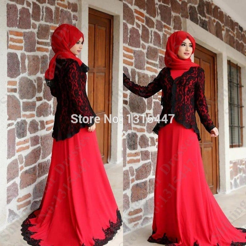 Robe-De-Soiree-Red-Long-Sleeve-Evening-Dress-font-b-2016-b-font-New-font-b 15 New Abaya Styles for Teenage Girls For Modest Look