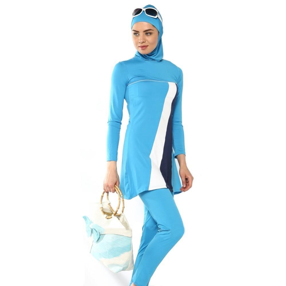 Turkish-Islam-font-b-swimsuit-b-font-font-b-hijab-b-font-muslim-swimwear-women-high Hijab Swimwear-15 Swimming Costumes For Muslim Women