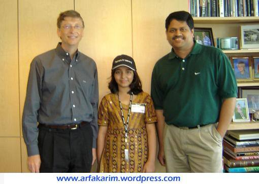 arfa-karim-and-bill-gates2 Famous Muslims-20 Most Influential Muslims in The World