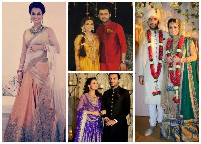 dia-wedding-1 10 Most Expensive Bollywood Wedding Dresses of All The Time