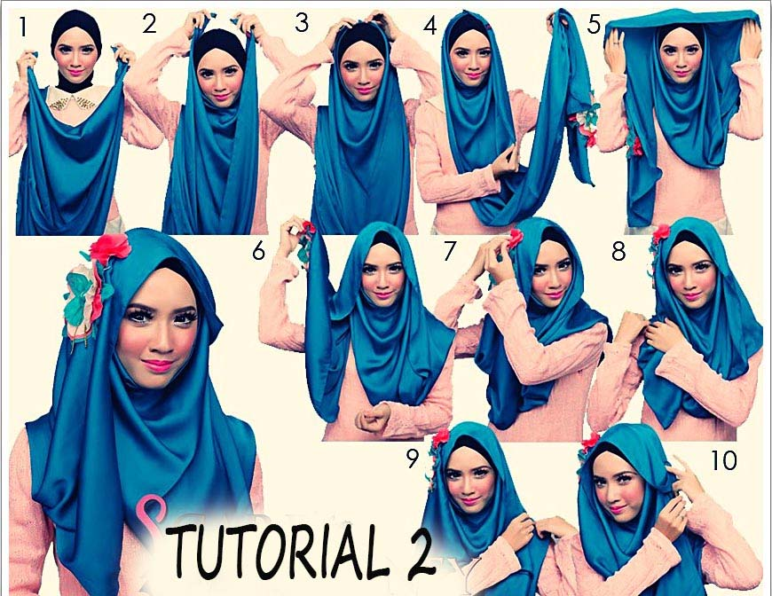 for-summers Pashmina Hijab Styles-18 Ways to Wear Hijab With Pashmina