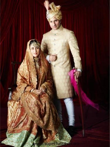 kareena-and-saif-wedding-375x500 10 Most Expensive Bollywood Wedding Dresses of All The Time