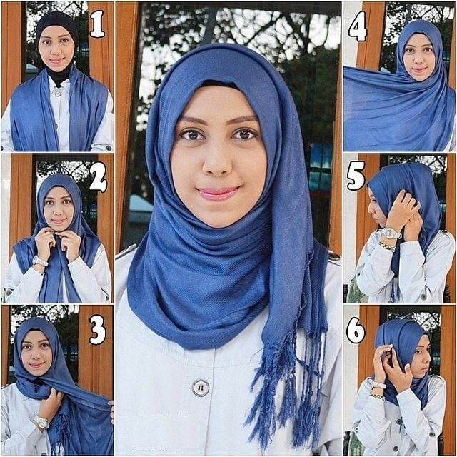 sophisticated Pashmina Hijab Styles-18 Ways to Wear Hijab With Pashmina