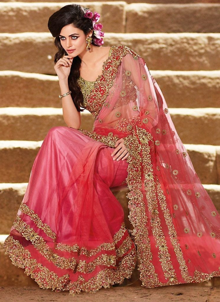 striking-hot-pink-wedding-saree-800x1100-1-745x1024 23 Latest Indian Wedding Saree Styles to Try this Year