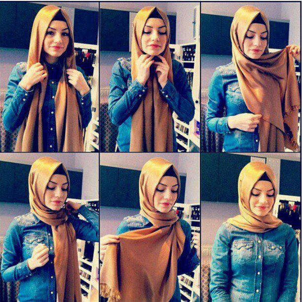 turkish-style Pashmina Hijab Styles-18 Ways to Wear Hijab With Pashmina
