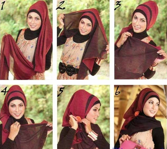 updo-style Pashmina Hijab Styles-18 Ways to Wear Hijab With Pashmina