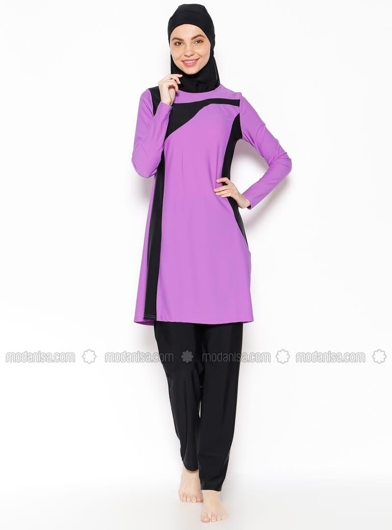 z-tam-kapali-mayo-eflatun-ranuna-206175-1 Hijab Swimwear-15 Swimming Costumes For Muslim Women