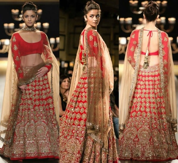 10-Best-Manish-Malhotra-Bridal-Collection-Lehenga-Designs-with-Price Bridal Dupatta Settings–17 New Ways to Drape Dupatta for A Wedding