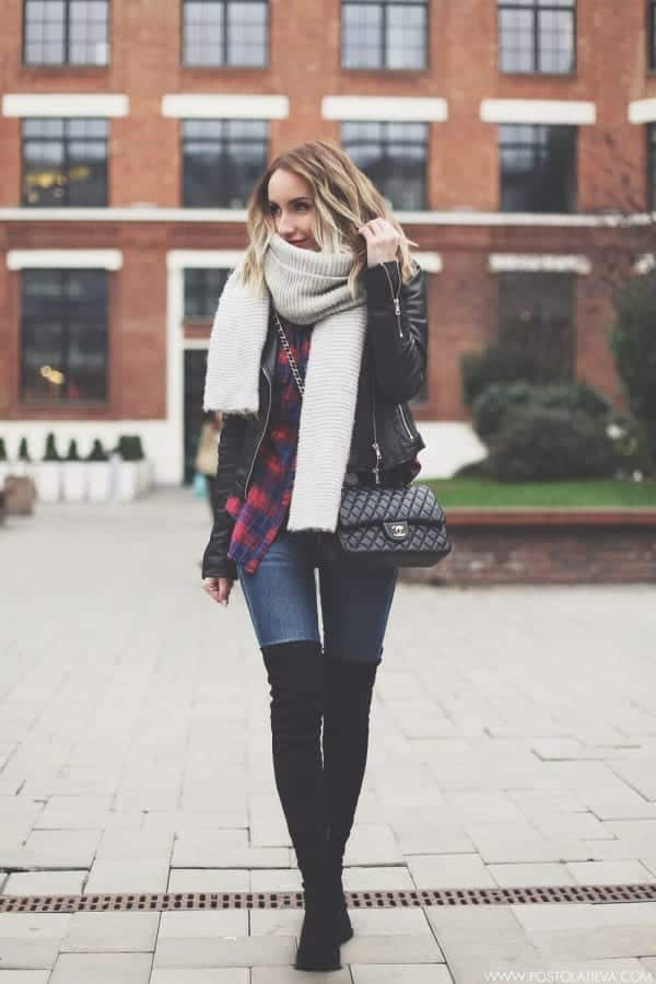 2016 winter outfit street style fashion dresses for United State girls  (4)