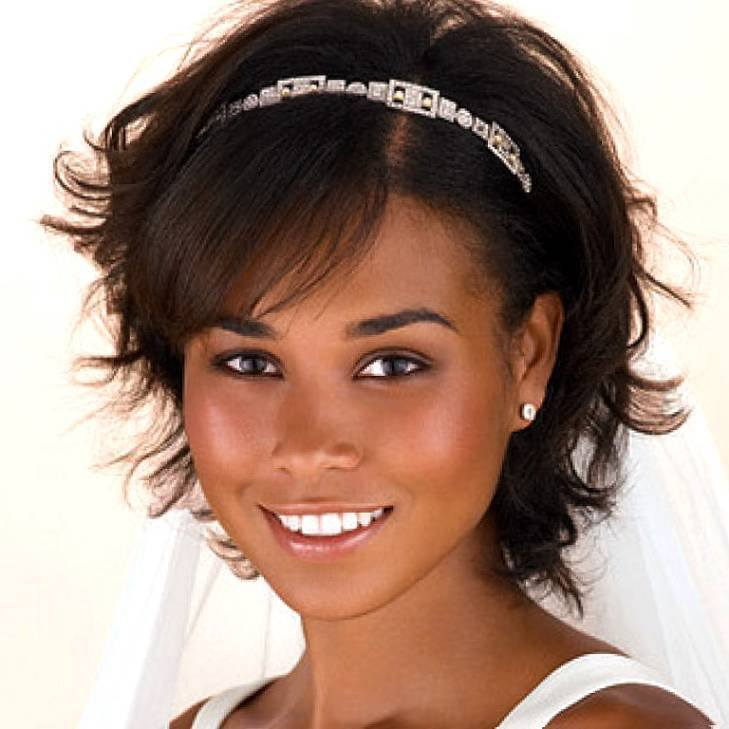 Cute-African-American-Girls-Short-Wedding-Hairstyles-Black-Wavy-Hair-With-Headband 50 Cutest Pictures of African Girls of All Ages