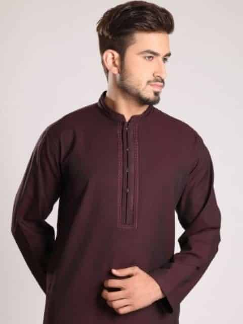 Edenrobe-Men's-Shalwar-Suit-Collection-for-Eid-2015-2016-14 Latest Kurta Styles for Men - 24 Best Kurta Styles in 2016