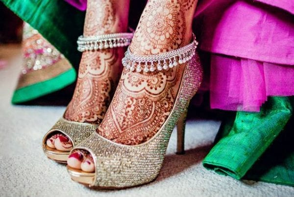 Fullonwedding-Bridal-Accessories-10-Bridal-Shoes-That-Will-Make-You-Drool-Silver-Peeptoe-heels Dholki Outfits-20 Ideas What to Wear on Dholki/Sangeet Night