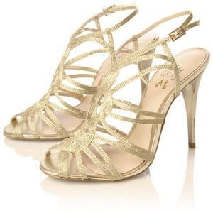 Golden-Strap-High-Heel-Sandals Bridal Sharara Designs-32 News Designs and Styles to Try