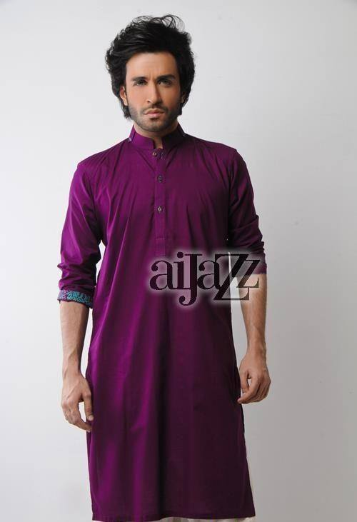 Latest-Summer-Fashion-Men-Kurta-Shalwar-Kameez-Designs-Collection-2015-2016-1 Latest Kurta Styles for Men - 24 Best Kurta Styles in 2019