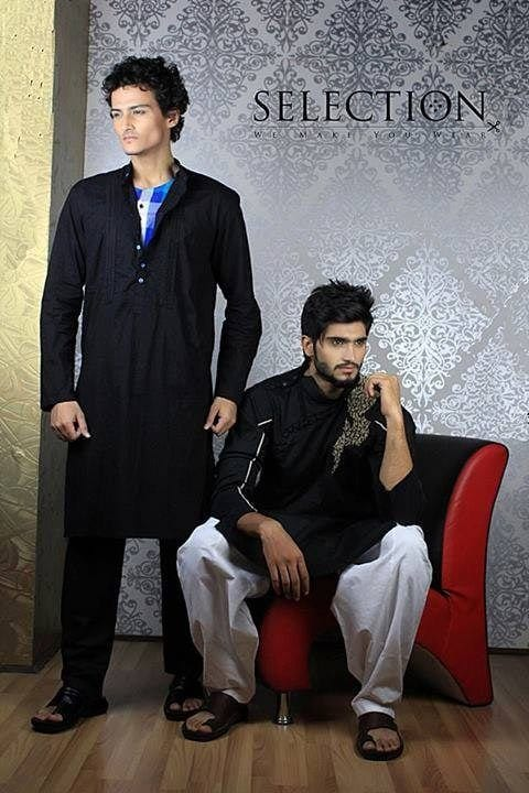 Latest-Summer-Fashion-Men-Kurta-Shalwar-Kameez-Designs-Collection-2015-2016-10 Latest Kurta Styles for Men - 24 Best Kurta Styles in 2019