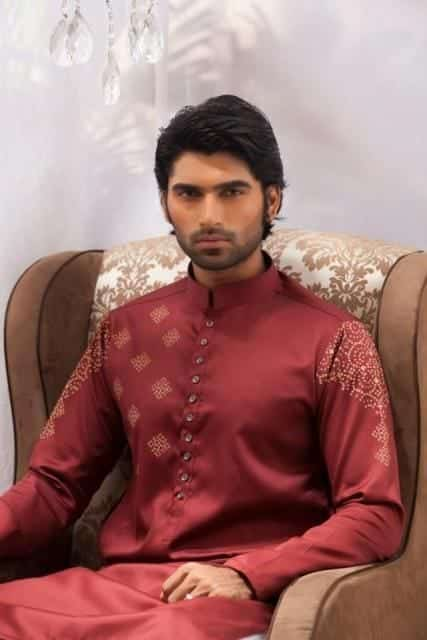 Latest-Summer-Fashion-Men-Kurta-Shalwar-Kameez-Designs-Collection-2015-2016-12 Latest Kurta Styles for Men - 24 Best Kurta Styles in 2016