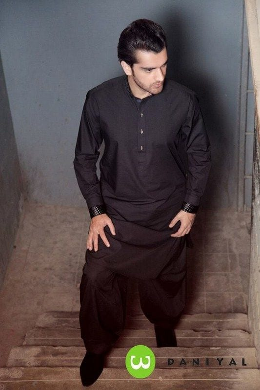 Latest-Summer-Fashion-Men-Kurta-Shalwar-Kameez-Designs-Collection-2015-2016-20 Latest Kurta Styles for Men - 24 Best Kurta Styles in 2019