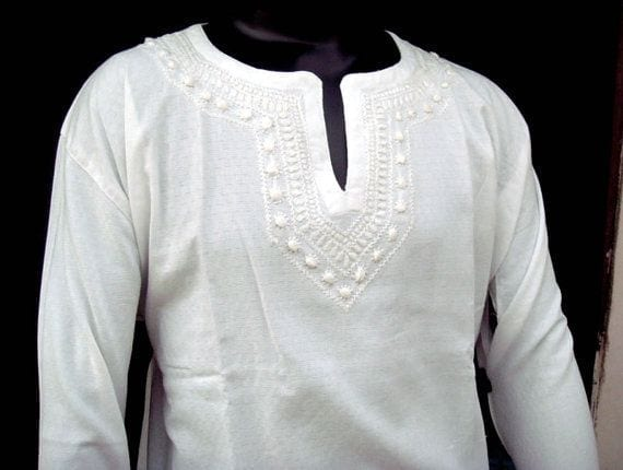 Latest-Summer-Fashion-Men-Kurta-Shalwar-Kameez-Designs-Collection-2015-2016-23 Latest Kurta Styles for Men - 24 Best Kurta Styles in 2019