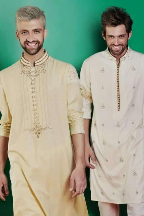 Latest-Summer-Fashion-Men-Kurta-Shalwar-Kameez-Designs-Collection-2015-2016-25 Latest Kurta Styles for Men - 24 Best Kurta Styles in 2019