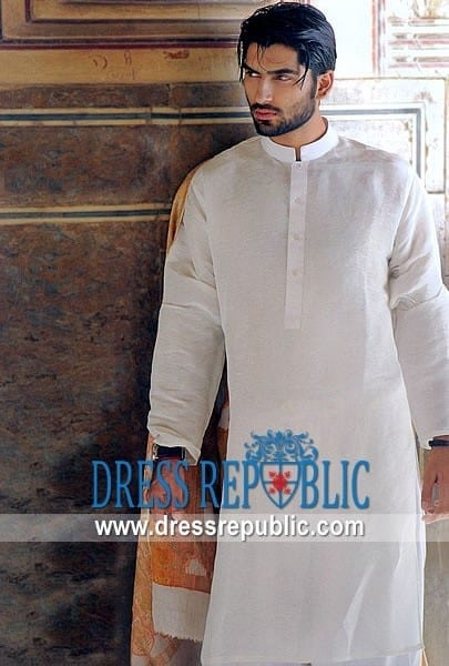 Latest-Summer-Fashion-Men-Kurta-Shalwar-Kameez-Designs-Collection-2015-2016-5 Latest Kurta Styles for Men - 24 Best Kurta Styles in 2019