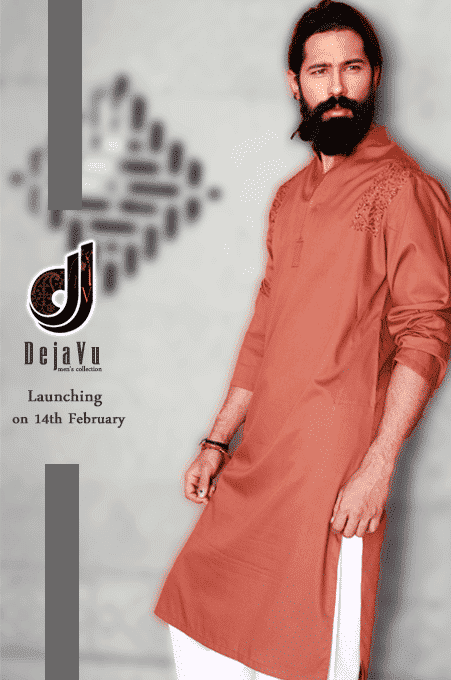 Men-Kurta-Shalwar-Designs-2015-by-Deja-Vu Latest Kurta Styles for Men - 24 Best Kurta Styles in 2019