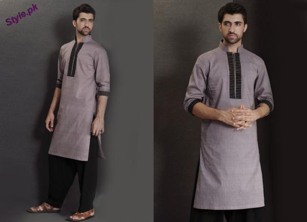 Mens-kurta-styles-for-eid-ul-fitr-2011-007-Style.pk_ Latest Kurta Styles for Men - 24 Best Kurta Styles in 2019