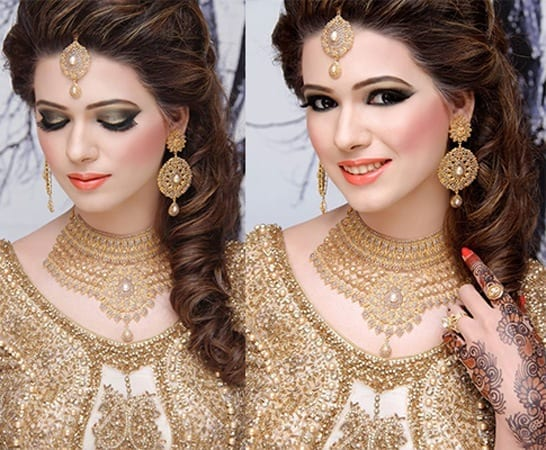 Natasha-Bridal-party-Makeup-Charges 23 Latest Indian Wedding Saree Styles to Try this Year