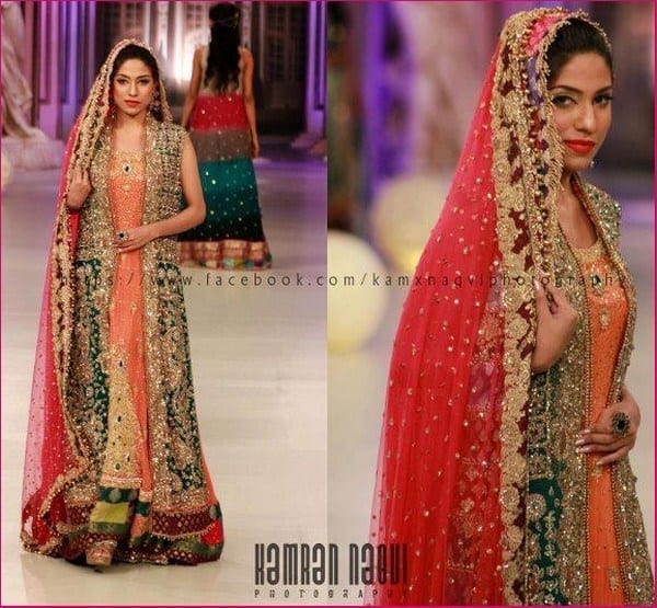 Tabassum-Mughal-Bridal-Couture-Week-Collection-11 Bridal Dupatta Settings–17 New Ways to Drape Dupatta for A Wedding