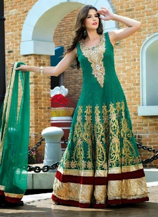 beautiful-indian-brides-bridal-gowns-for-girls-new-fashion-dress-2013-11 30 Latest Indian Bridal Gown Styles and Designs to Try this Year