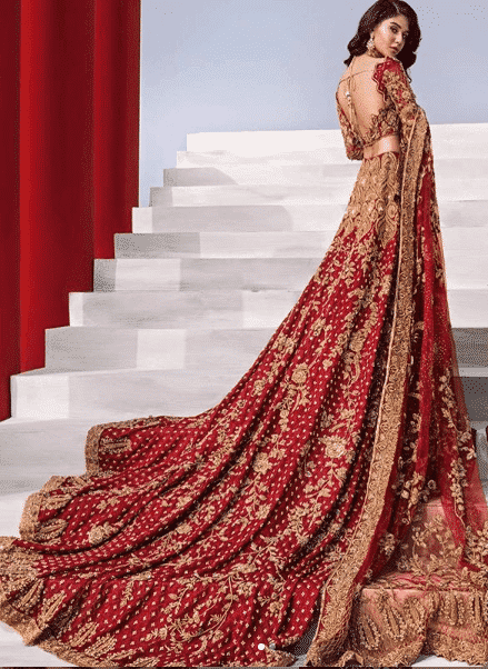 bride-with-a-trail Bridal Sharara Designs-32 News Designs and Styles to Try