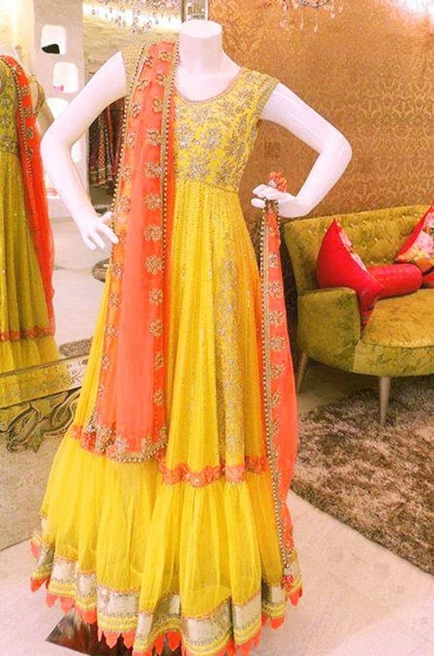coolmehndi-dress Dholki Outfits-20 Ideas What to Wear on Dholki/Sangeet Night