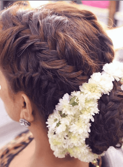 hair-style-bun Bridal Sharara Designs-32 News Designs and Styles to Try