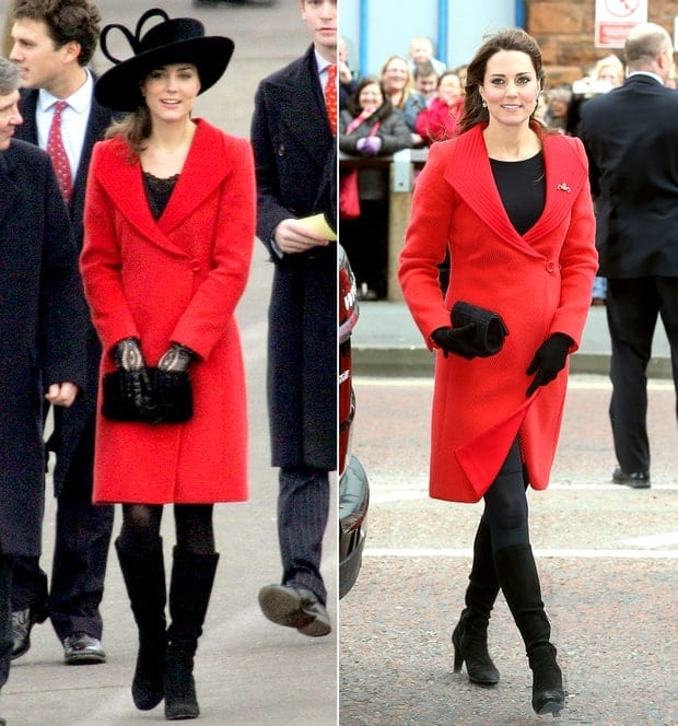 kate-middleton-red-coat-zoom 20 Times Kate Middleton Recycled Her Wardrobe