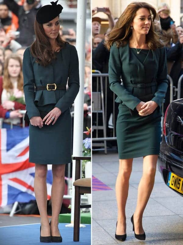 kate-middleton-wears-same-green-dress-at-2012-see-pics-ftr 20 Times Kate Middleton Recycled Her Wardrobe