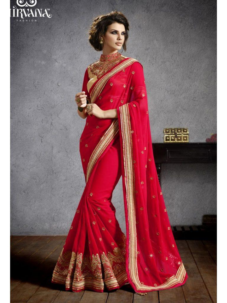 magenta-768x1024 Latest Bridesmaid Saree Designs-20 New Styles to try in 2019