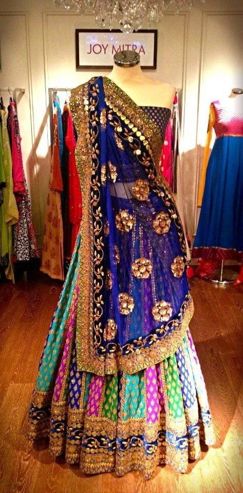multicolored-mehndi-dress Dholki Outfits-20 Ideas What to Wear on Dholki/Sangeet Night