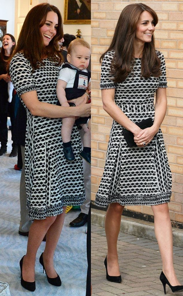 nice-dress-grey-634x1024 20 Times Kate Middleton Recycled Her Wardrobe