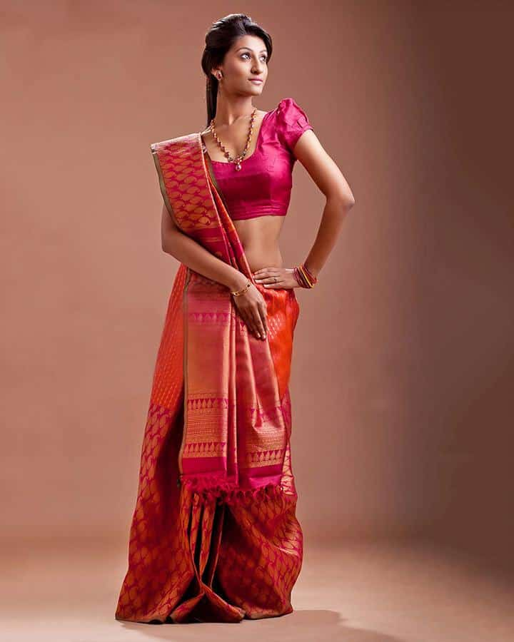 pink-South-Indian-Bridal-Sarees-2 23 Latest South Indian Wedding Sarees To Try This Year