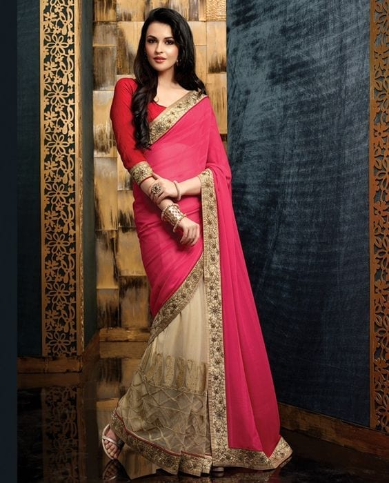 pink-bridesmaid Latest Bridesmaid Saree Designs-20 New Styles to try in 2019