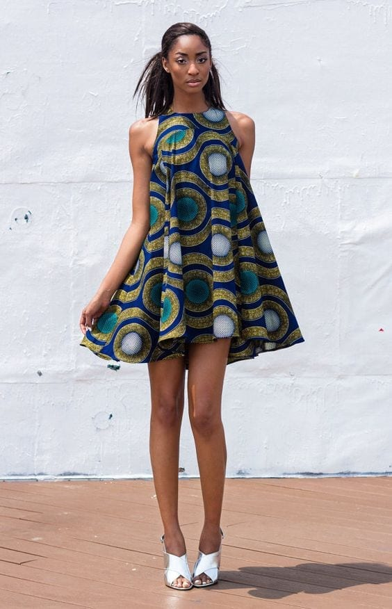 short_funky_chic_ankara Top 20 Ankara Styles outfits  for Ladies to Follow in 2018