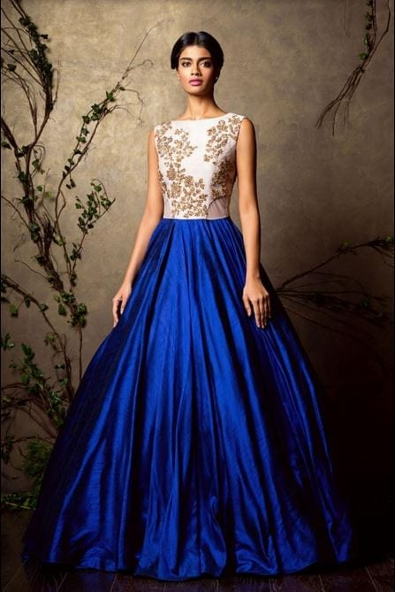 shyamal-bhumika-royal-blue-designer-indian-wedding-gown-dress-for-brides-embroidery-latest-fashion-white Latest Bridal Gowns - 20 Most Perfect Bridal Gowns this Year