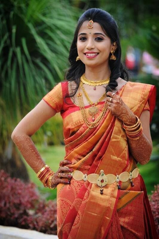 south-indian-wedding-style-for-young-women-1 23 Latest South Indian Wedding Sarees To Try This Year