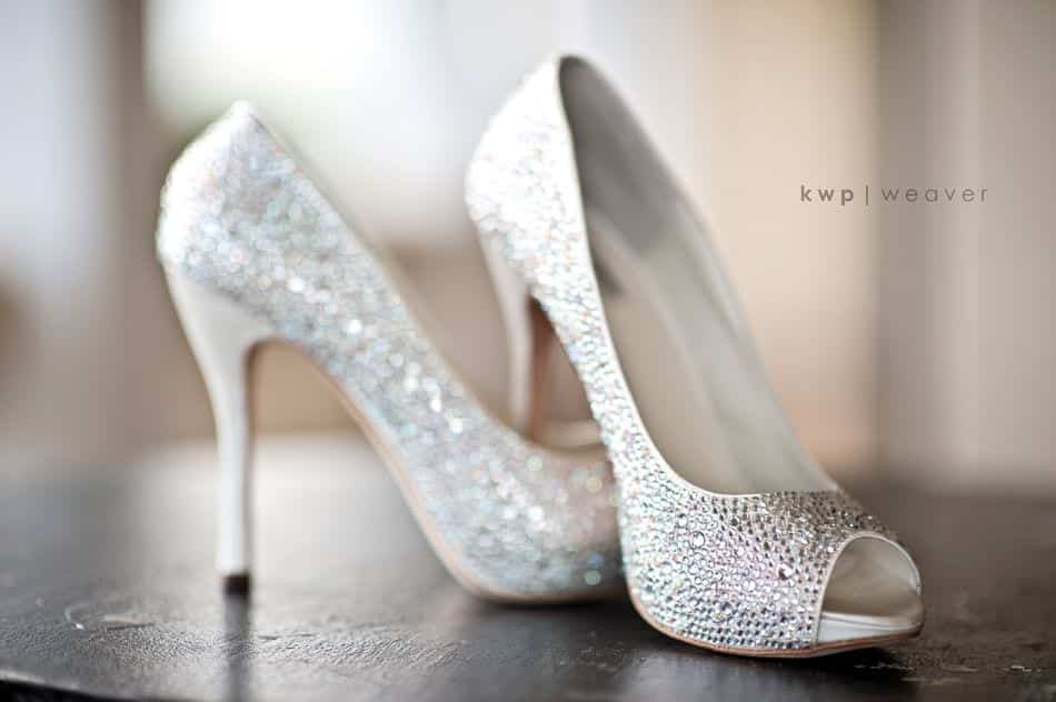 sparkly-peep-toe-wedding-heels Bridal Dupatta Settings–17 New Ways to Drape Dupatta for A Wedding