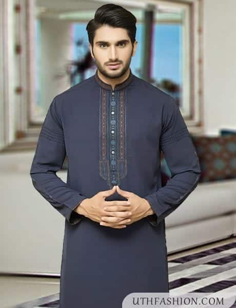 stylish-kurta-design-2016-for-men Latest Kurta Styles for Men - 24 Best Kurta Styles in 2016