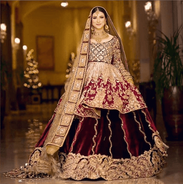 the-royal-peplum-look Bridal Sharara Designs-32 News Designs and Styles to Try