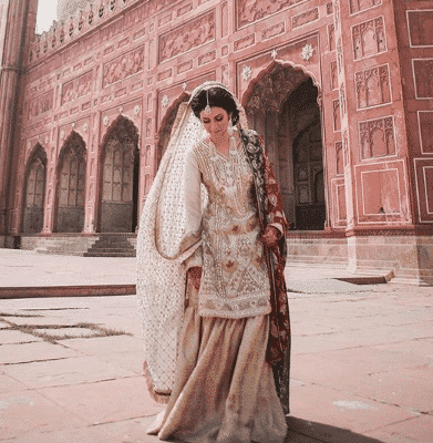 white-outfit Bridal Sharara Designs-32 News Designs and Styles to Try