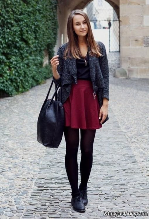 wpid-skater-dress-winter-outfit-2016-2017-3 25 Cute Outfits for Skinny Girls-Ideas What to Wear being Skinny