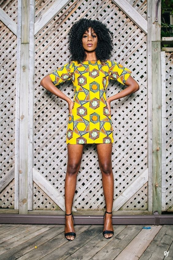 yellow_abstract_paint_ankara Top 20 Ankara Styles outfits  for Ladies to Follow in 2018