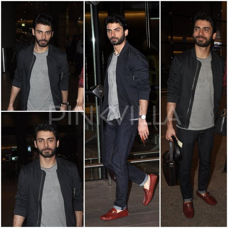 Fawad-Khan-airport-khoobsurat Fawad Khan Dressing Styles-27 Best Outfits of Fawad Khan to Copy